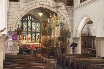 Interior of Church at Mottram
