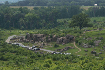 Devil's Den viewed from Little Round Top at Gettysburg