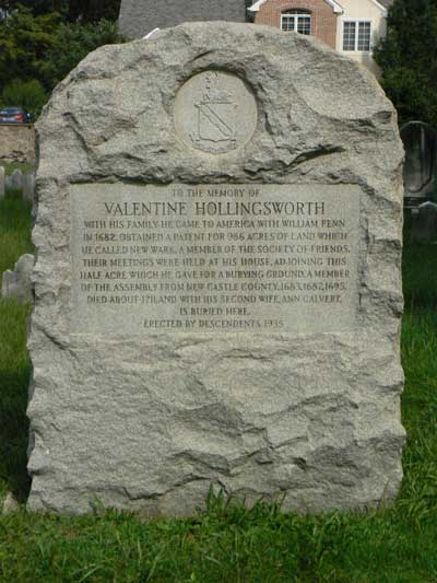 Valentine Hollingsworth Memorial Marker